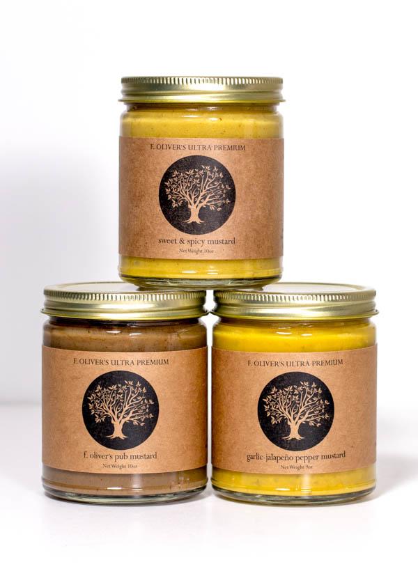 F. Oliver's Ultra-Premium Mustards