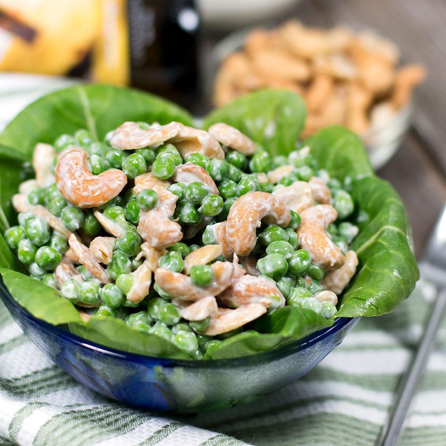 Spring Pea & Cashew Salad | Get the recipe at www.folivers.com