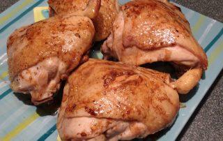 chicken thighs with a balsamic vinegar glaze