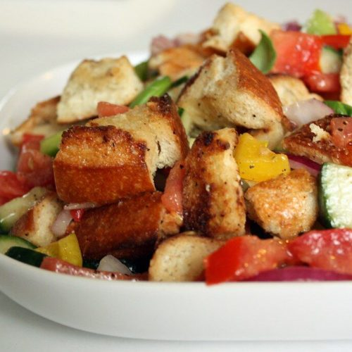 panzanella with f. oliver's olive oil