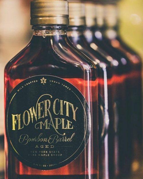 Flower City bourbon barrel maple syrup